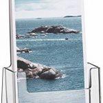 Helit H2351002 Porte-brochures de table pour brochures au format 1-3 DIN A4, haut, transparent de la marque Helit image 1 produit