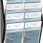 Helit H6270495 - Présentoir mural pour magazines, 4poches, A3, paysage, noir de la marque Helit image 1 produit