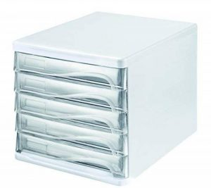 Helit Module de classement à tiroirs Format A4/C45tiroirs Gris clair/transparent de la marque Helit image 0 produit