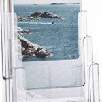 Helit Porte-brochure de table Flyer support 4compartiments 1/3A4(Hauteur: DIN C6) de la marque Helit image 1 produit