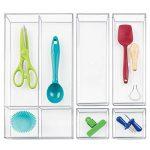 InterDesign Clarity rangement de tiroir, moyen range couverts en plastique, organiseur de tiroir pour couverts et autres ustensiles, transparent de la marque InterDesign image 2 produit