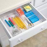 InterDesign Clarity rangement de tiroir, moyen range couverts en plastique, organiseur de tiroir pour couverts et autres ustensiles, transparent de la marque InterDesign image 4 produit