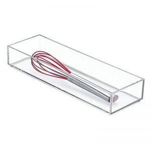 InterDesign Clarity rangement de tiroir, moyen range couverts en plastique, organiseur de tiroir pour couverts et autres ustensiles, transparent de la marque InterDesign image 0 produit