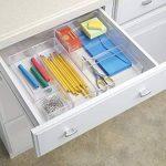 InterDesign Clarity rangement de tiroir, petit range couverts en plastique, organiseur de tiroir pour couverts et autres ustensiles, transparent de la marque InterDesign image 1 produit