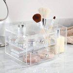 InterDesign Drawers tour de rangement, boite-tiroirs empilable plastique à 2 tiroirs & compartiments, boite de rangement cosmétique & objets bureau, transparent de la marque InterDesign image 1 produit