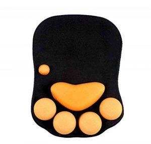 Intsun Gel chat griffe tapis de souris avec support pour poignet en polyuréthane, Coque étanche en silicone bande de tapis de souris pour poignet, poignet Coussin, poignet Tapis de souris Pad de la marque Intsun image 0 produit
