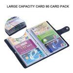 iSuperb Porte-cartes de visite Cartes Livret Dossier En Cuir pour ID Crédit Cartes Capacité 90 cartes 18.3x11.5x1.5 cm de la marque iSuperb image 1 produit