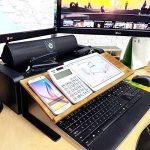 Jackcubedesign Tablette Bamboo support livre de smartphone téléphone portable écran étagère de rangement pour ordinateur de bureau pour ordinateur portable Document support pour (52.6x 17x 13cm) de bureau –: Mk294a de la marque JackCubeDesign image 2 produit