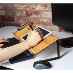 Jackcubedesign Tablette Bamboo support livre de smartphone téléphone portable écran étagère de rangement pour ordinateur de bureau pour ordinateur portable Document support pour (52.6x 17x 13cm) de bureau –: Mk294a de la marque JackCubeDesign image 3 produit