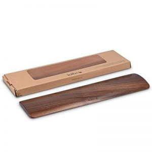 kalibri Repose-poignets pour clavier - Appui poignets pour travail écriture jeu ordinateur PC - Support ergonomique bois de noyer - 30 x 7,6 x 1 cm de la marque kalibri image 0 produit