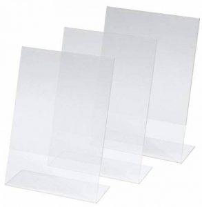 Kangaro SY112 Lot de 3 Présentoirs de table, 14,8 x 21 x 6,3 cm, acrylique transparent de la marque Kangaro image 0 produit