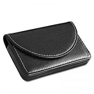 KINGFOM Porte-Carte de visite en cuir, Noir de la marque KINGFOM image 0 produit
