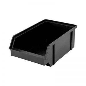 Lantelme 3932 Lot de 10 - - Boîte de rangement empilable Boîtes Empilables couleur Noir en plastique ProfiPlus Bac à de la marque Lantelme image 0 produit