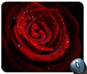 Le caoutchouc antidérapante confortable personnalisé de souris d'ordinateur de tapis de souris, un tapis de souris, les gouttes d'eau sur le tapis rouge rose 46989 personnalisé rectangulaire de la souris de la marque Yanteng image 0 produit