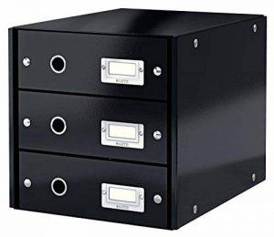 Leitz Bloc de Classement à 3 Tiroirs, Click & Store, A4, Noir, 60480095 de la marque Leitz image 0 produit