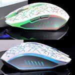 Lexonelec® Wireless Mouse Gamer Azzor M6Silencieux Mute LED respiration lumière 2400dpi Régler ergonomique USB Optique Crack 6boutons de jeu Gaming Mouse pour ordinateur portable PC Ordinateur de la marque LexonElec® image 1 produit