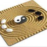liili Tapis de souris Tapis de souris en caoutchouc naturel d'image: 23333495japonais Jardin Zen avec Yin et Yang pierres de la marque Goobull image 1 produit