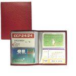 LOLUNA® - Carnet 64 cartes pour carte bancaire, fidélité, visite, Navigo, Vital ou tout carte format standard, format portefeuille pochette plastifiée, étui en cuir dans plusieurs couleur de la marque LOLUNA image 1 produit