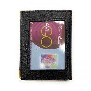 LOLUNA® Porte-carte simple 1 à 2 carte transparent compact en cuir existe en plusieurs couleur pour homme et femme de la marque LOLUNA image 0 produit