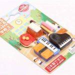 Lot de 12 gommes Iwako sur les thèmes des sport, musique, fournitures scolaires de la marque Iwako image 2 produit