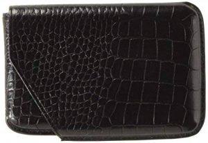 Lucrin Porte-cartes de visite Etui encastrable rigide en cuir de veau pour 25 cartes Lisse FaçonCrocodile Noir de la marque Lucrin image 0 produit