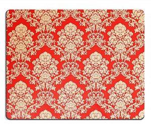 luxlady Gaming tapis de souris d'image: 33954726Rouge Papier peint vintage avec Golden Rose Design Baroque de la marque Goobull image 0 produit