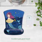 Mermaid Lady–Exco Design élégant repose poignet Tapis de souris avec soutien doux Coussin Bureau Fournitures de la marque EXCO image 1 produit