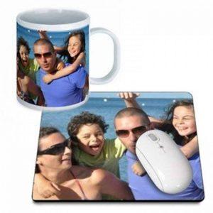 Mug et tapis de souris personnalisés, personnalisable avec vos photos de la marque selfiemania image 0 produit