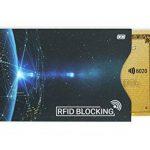 MyGadget 4x Porte Carte Protection Bloqueur RFID/NFC/Sans Contact - Slim Card Holder Protège Données Anti Espion Carte Bleue/de Crédit/Paiement de la marque MyGadget image 1 produit