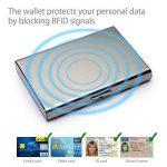 MyGadget Porte Carte Aluminium - Protection Bloqueur RFID/NFC/Sans Contact - Slim Wallet Port 6 cartes - Portecarte Homme Femme - Holder Argent de la marque MyGadget image 1 produit