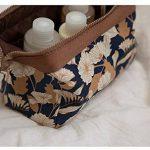 NOV@GO® Petite Trousse de toilette Compact pliable, trousse maquillage, pochette cosmétique fleurie style japonais de la marque NOV@GO® image 2 produit
