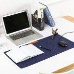 NTMY Multifunctional Computer Desk Mat Felt Mouse Pad Parfait pour Office et Hone, 25.5 * 13 pouces (Bleu foncé) de la marque NTMY image 1 produit
