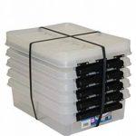 Orthex 35890705 Clipbox Smart Store Classic 14 Lot de 5boîtes de rangement en plastique transparent empilables 40x 30x 12cm de la marque Orthex image 2 produit