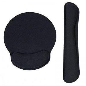 Pad de Clavier et tapis de souris ergonomique avec repose-poignet gel et Mousse à Mémoire pour gaming travailler de la marque Eastshining image 0 produit