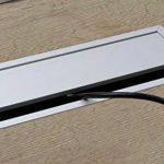 Passe-câble Argent Bureau Eco rectangulaire avec câble Joint à brosse–Passage de câble Aluminium Argent Anodisé–Boîte 100x 240mm pour répondre | Meubles ferrures de gedotec® de la marque GedoTec® image 2 produit