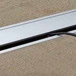 Passe-câble Argent Bureau Eco rectangulaire avec câble Joint à brosse–Passage de câble Aluminium Argent Anodisé–Boîte 100x 320mm pour répondre | Meubles ferrures de gedotec® de la marque GedoTec® image 2 produit