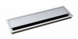 Passe-câble Argent Bureau Eco rectangulaire avec câble Joint à brosse–Passage de câble Aluminium Argent Anodisé–Boîte 100x 320mm pour répondre | Meubles ferrures de gedotec® de la marque GedoTec® image 0 produit