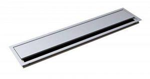 Passe-câble Argent Bureau Eco rectangulaire avec joint à brosse–Passage de câble Aluminium Argent Anodisé–Câble Boîte 100x 450mm pour répondre | Meubles ferrures de gedotec® de la marque GedoTec® image 0 produit