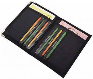 Pochette de carte d'identité et porte carte de crédit en différentes designs en couleur noir de la marque myledershop image 0 produit