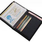 Pochette de carte d'identité et porte carte de crédit en différentes designs en couleur noir de la marque myledershop image 1 produit