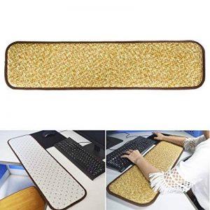 Poignet de bras de repos pour ordinateur - Pad de coude de poignet de refroidissement en rotin, support de coude de poignet de clavier double face amélioré pour table de bureau Ordinateur de bureau (frais et doux, 32 x 8,3 po) - Soulagement de la douleur image 0 produit