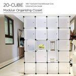 PONCTUEL ESCARGOT Armoire Penderie Opaque Cube de Rangement Vêtement Jouet 12 Cube Noir Blanc (Blanc 20 Cube) de la marque PONCTUEL ESCARGOT image 3 produit