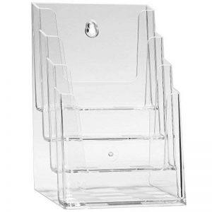 Porte-brochure DIN A5 porte brochure stand de table avec 4 étages - transparent de la marque DELIGHT DISPLAYS® image 0 produit