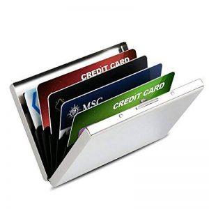 Porte-Carte Crédit/Visite / Porte Monnaie/Etui Credit/Housse Etui Rigide en Acier Inoxydable - RFID Lutte Contre Criminel de Scanning - 6 Slots de la marque LEVIN image 0 produit