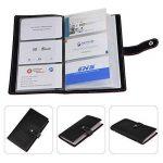 Porte Cartes de Visite 240 cartes Cuir pour Cartes Fidélité Carte de Crédit Carte d'identité coupons de réduction Collecteurs de la marque HOGAR AMO image 2 produit