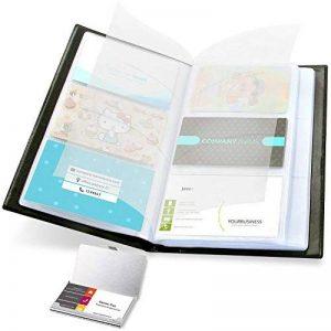 Porte-cartes de visite, carte de visite Ohuhu Porte-livre 2-IN-1 Ensemble de journal Organisateur de cartes de visite et étui à carte en acier inoxydable de la marque Ohuhu image 0 produit
