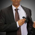 Porte-Cartes de Visite, Étui de Protection en Acier Inoxydable et PU Cuir avec Fermeture Aimantée pour Carte de Crédit, Papiers d'Identité, Noir de la marque EKICHE image 4 produit