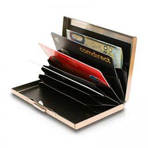 Porte-Cartes Métallique Pour Dames et Hommes avec la Technologie de Blocage IRF Acier Inoxydable Résistant à l'Eau 6 Fentes Protecteur de Carte de Crédit le Plus Fiable par de Card Genie de la marque Card Genie image 0 produit