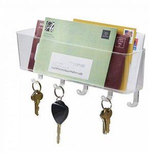 Porte-courrier, lettres et clés pour bureau, entrée, cuisine - Support mural, Transparent de la marque MetroDecor image 0 produit