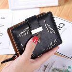porte monnaie femme, TMEOG Porte-monnaie en cuir Bifold Wallet en cuir en cuir Porte-cartes en cuir Porte-monnaie en cuir de la marque TMEOG image 2 produit